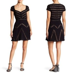 Free People Elle Lace Mini A line Dress
